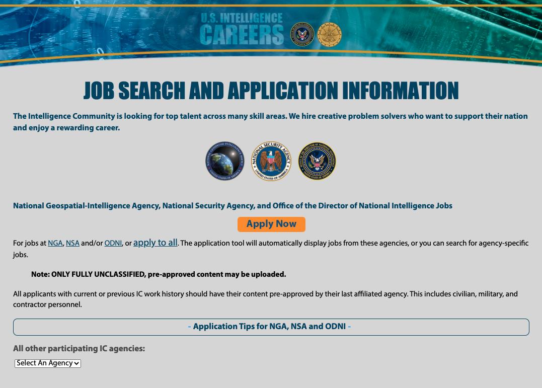 US Intelligence Career Link